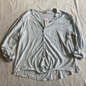 2/$15 Style & Co. Waist Tie Knit Tee Large